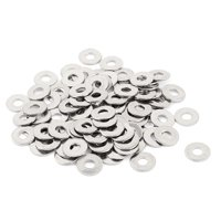 Uxcell M3 x 8mm x 0.6mm 304 Stainless Steel Flat Washer for Screw Bolt (100-pack)