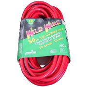Voltec 05-00115 50 ft. Extension Cord With Lighted Ends, 3-Conductor - Red & Black, Case of 4