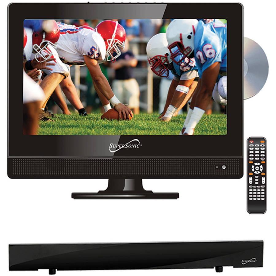 "Supersonic 13.3"" Class - HD LED TV/DVD Combo - 720p, 60Hz (SC-1312) and SC-612 HDTV Flat Digital Antenna"