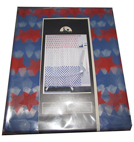 Deyou Red White Blue Stars By India Shower Curtain Polyester Fabric
