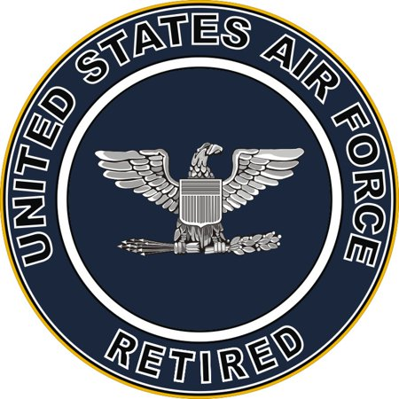 3.8 Inch U.S. Air Force Retired Colonel Decal