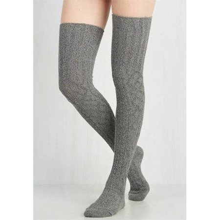 60cce8e0f40 ZAXARRA - Sexy Women Warm Knit Over Knee Thigh High Stockings Knitted  Tights Long Socks Silver - Walmart.com