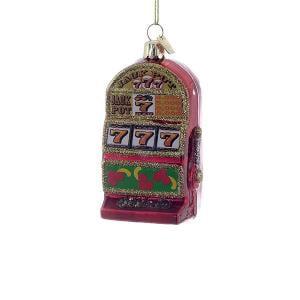 Noble Gems Glass Slot Machine Ornament