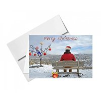 Merry Christmas Snow Cards & Envelopes - Size: 4 3/8 X 5 3/4 Inches - 20 Cards & 20 Envelopes Per Pack (MERRY CHRISTMAS)
