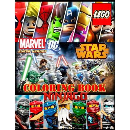 Lego 3 in 1 : Coloring Book: Super Heroes (Dc&marvel), Star Wars, Ninjago, Activity Book for Kids and Adults - Halloween Activities For Adults With Disabilities