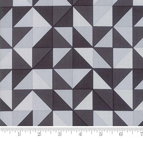 Clearance Sale~Spectrum~Geometric Ombre HST~Grey Scale Cotton Fabric.by Moda