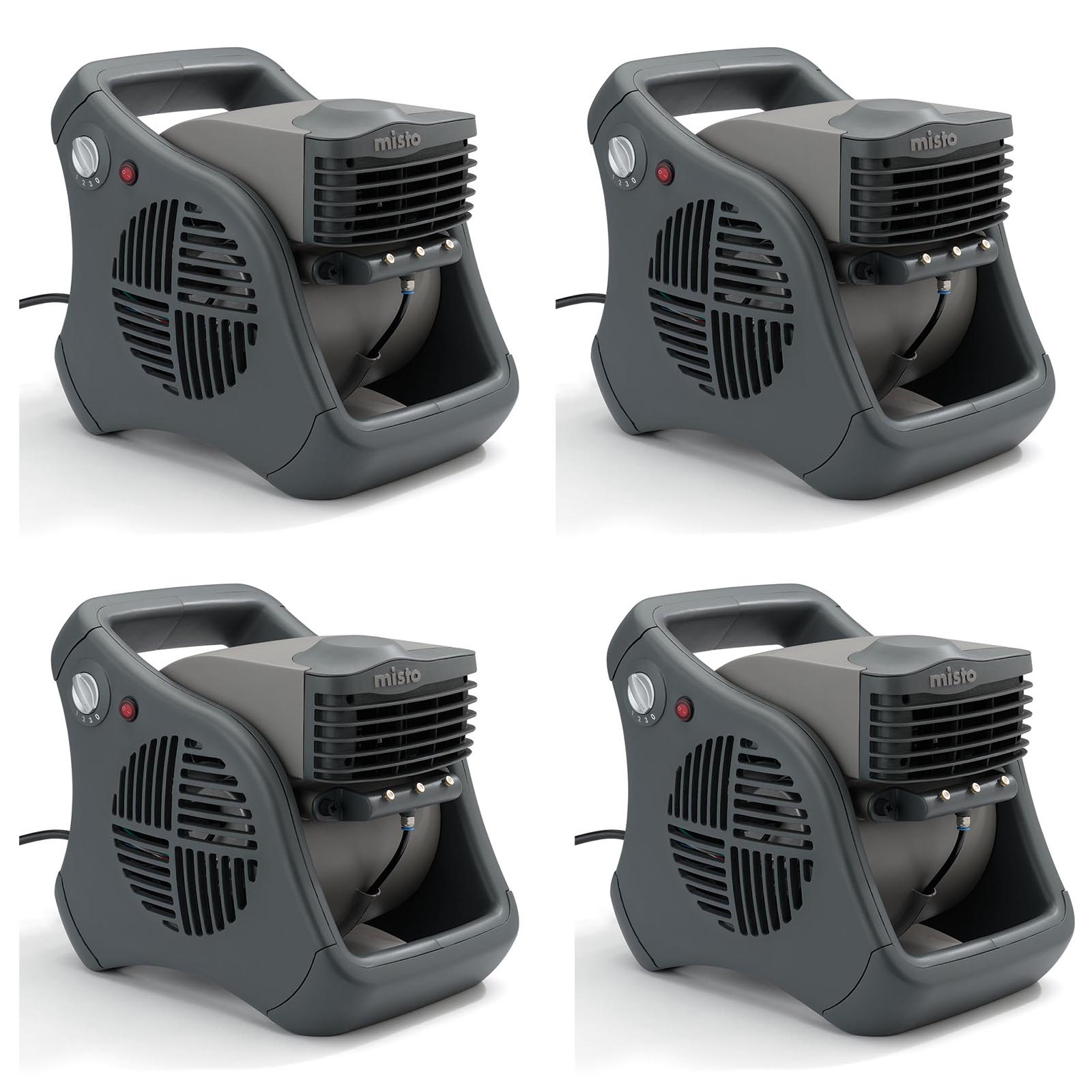 Lasko Misto Outdoor Patio Mister Portable Cooling Water Misting Fan (4 Pack)