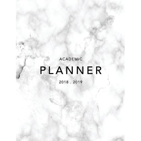 Academic Planner 2018-19 : Marble + Gold Weekly View Student Planner to Do Lists, Goal-Setting, Class Schedules + More (August 2018 - July