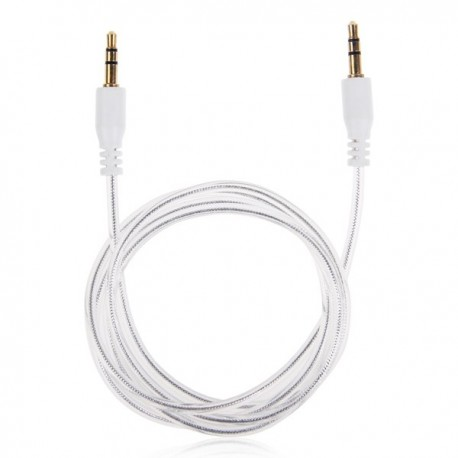 Onn 3-Foot Audio Cable Auxiliary Cord, White