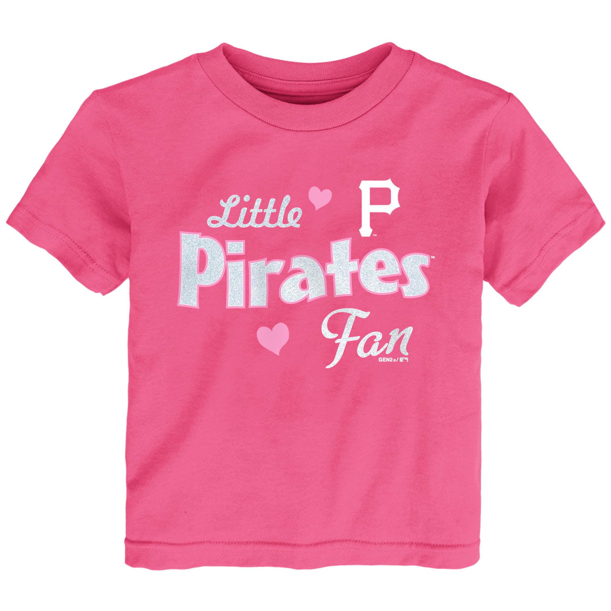 Pittsburgh Pirates Girls Toddler Fan T-Shirt - Pink