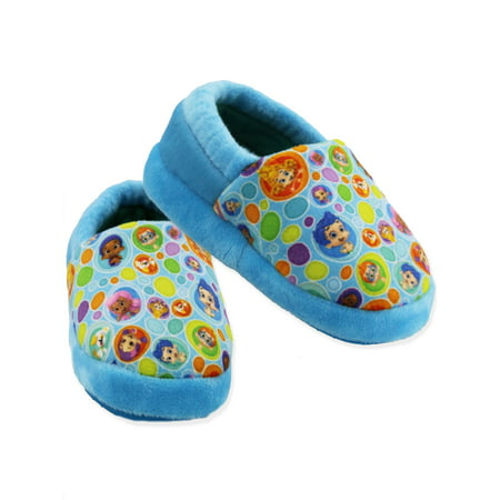 Bubble Guppies Toddler Boys Girls Plush A-Line Slippers CH18026 - Rainbow Dash Slippers