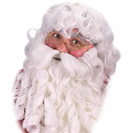 Santa Wig Beard Mustache Deluxe Adult Christmas Accessory