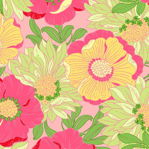 VIP Fabrics Lulu's Lounge Floral Fabric