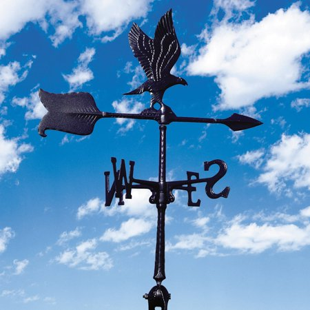 24 Eagle Accent Weathervane, Black Eagle Rooftop Weathervane
