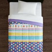 Mainstays Kids Cupcake Treats Reversible Microfiber Comforter