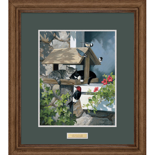 Wild Wings Do Not Disturb by Persis Clayton Weirs Framed Painting Print by