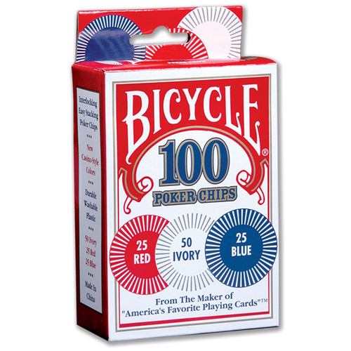 United States Playing Cards Bicycle Poker Chips (Set of 100)