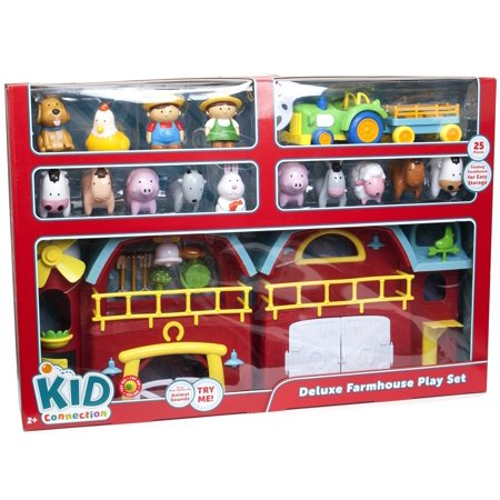 Kid Connection Light And Sound Farm House Play Set