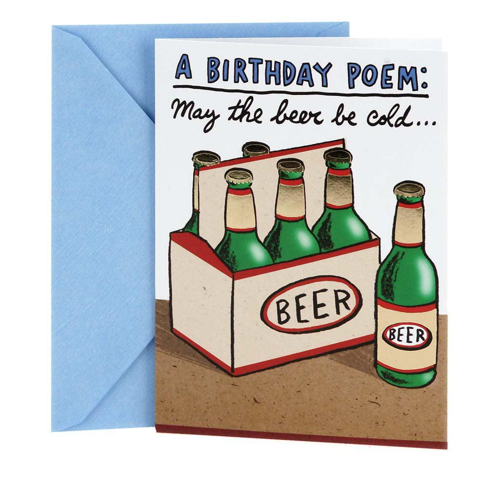 Hallmark Shoebox Funny Birthday Card Cold Beers
