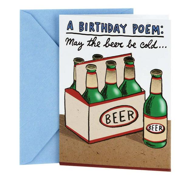 Hallmark Shoebox Funny Birthday Card Cold Beers Walmart Com Walmart Com