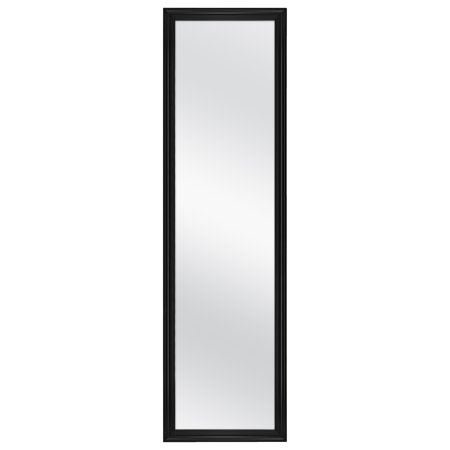 "MCS Over-the-Door Framed Mirror, Black, 14.4"" x 50.4"""