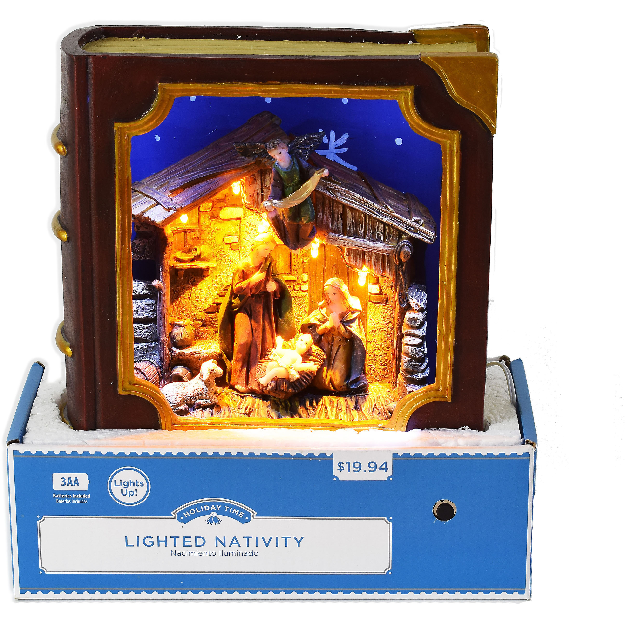 Holiday Time Lighted Nativity Book