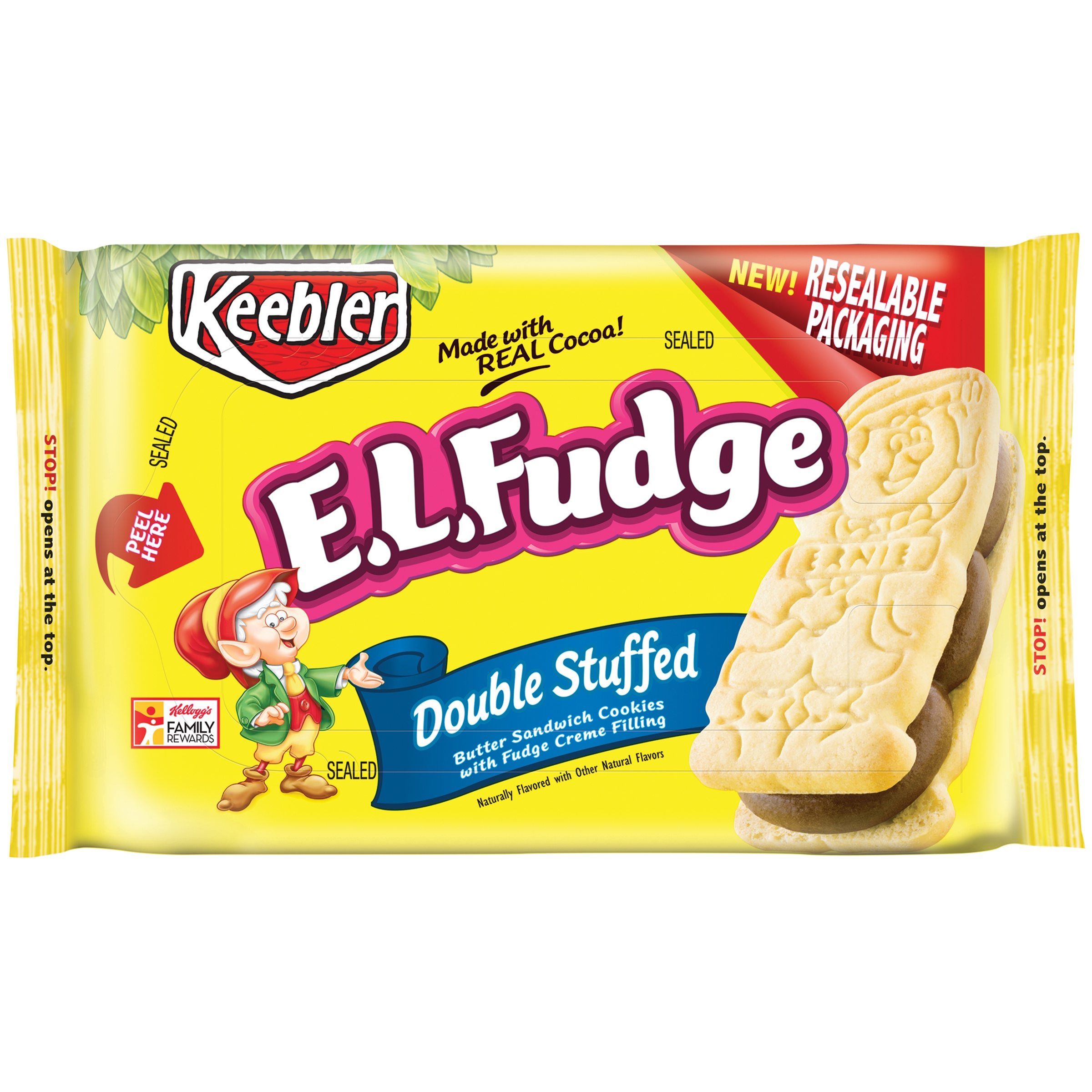 Keeblerâ ¢ E.L. Fudge ® Double Stuffed Sandwich Cookies 12 oz. Tray