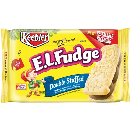Keebler E L  Fudge Double Stuffed Sandwich Cookies  12 Oz