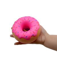 Stress Reliever Scented Pink Doughnut Super Slow Rising Kids Squeeze Toy Gift