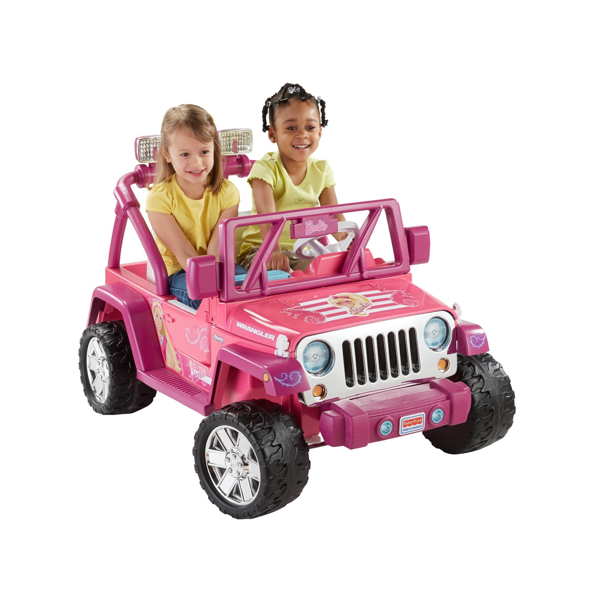 Power Wheels Barbie Deluxe Jeep Wrangler 12-Volt Battery-Powered Ride-On by FISHER PRICE