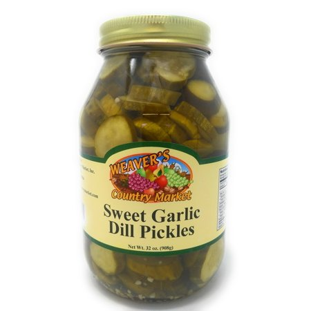 Garlic Sweets (Weaver's Country Market Sweet Garlic Dill Pickles)