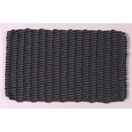 Slate Gray Rectangular Handcrafted Doormat - Original (Cottage: 16 in. W x 26 in. (Terrier Welcome Slate)