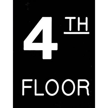 - Floor number Sign - Four (4) sign Engraved Plastic