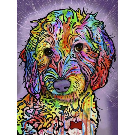 Sweet Poodle Dog Whimsical Animal Art Print Wall Art By Dean Russo