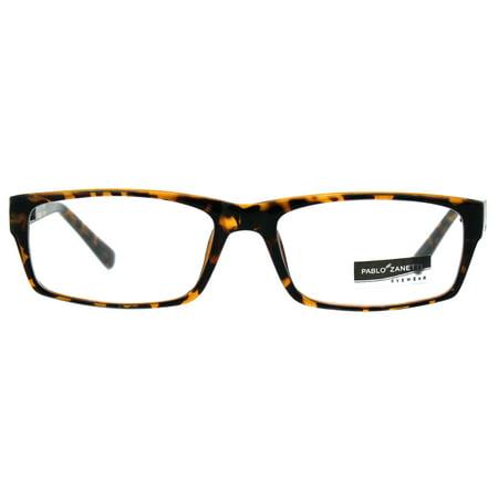 Classic Narrow Rectangular Professor Studious Plastic Eyeglasses Frame (Lightweight Plastic Eyeglass Frames)