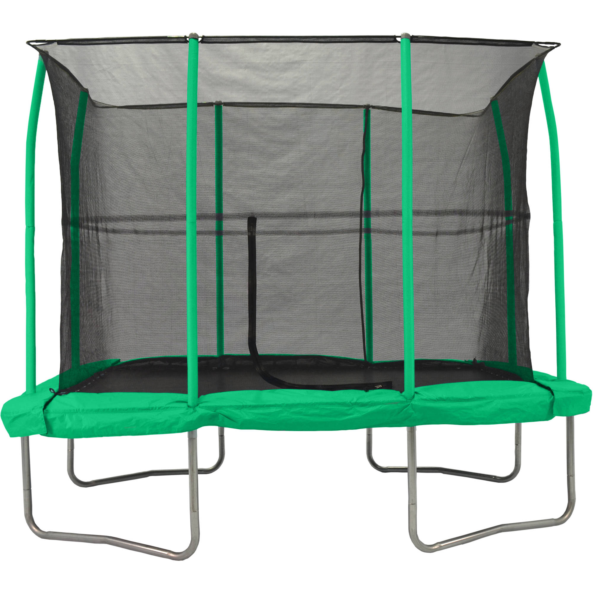 Jumpking 7 X 10 Rectangular Trampoline With Green Pad