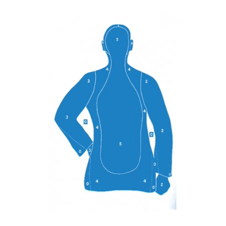 Law Enforcement Targets BLUE B-21E Economy 25 Yard Silhouette Target 23x35, ()
