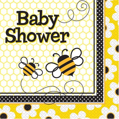 Bumble Bee Baby Shower Party Napkins, 16ct