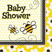 Bumble Bee Baby Shower Party Lunch Napkins, 16ct