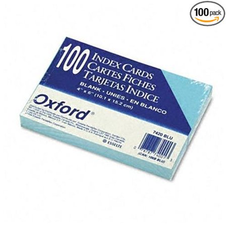 100 Oxford Blue Colored Blank Index Cards 4