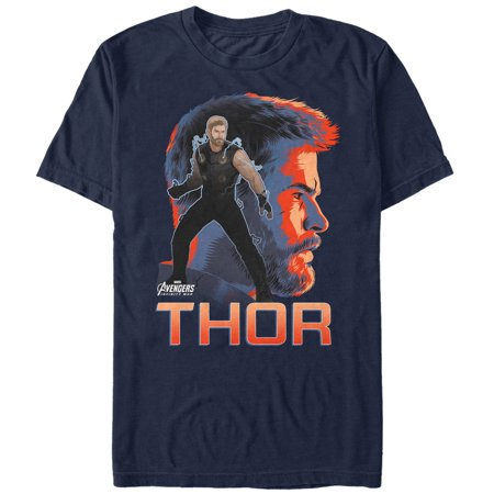 Marvel Men's Avengers: Infinity War Thor View T-Shirt (Thor Suits)