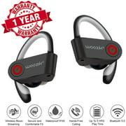 Woozik Relay TWS Bluetooth Sport Headphones, True Wireless Earbuds Twins Headset with Built-In Mic, Gym Earphones, No wires, Running, Travel