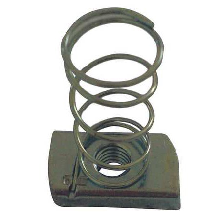 ZORO SELECT 22FP78 Channel Nut w SpringGalvanized Steel