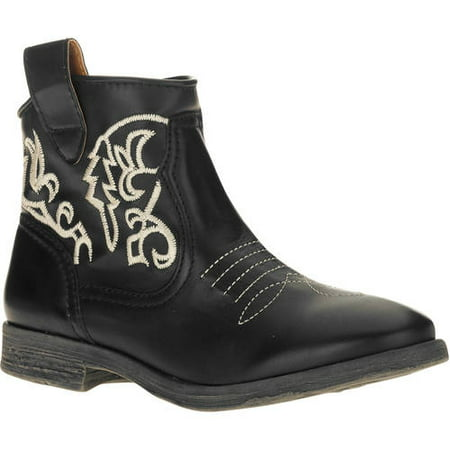 MoMo Women's Trigger Western Inspired Ankle Boot Inspired Ankle Boot