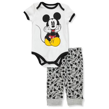 Disney Mickey Mouse Baby Boys' 2-Piece Pants Set Outfit - Mickey Mouse First Birthday Outfit