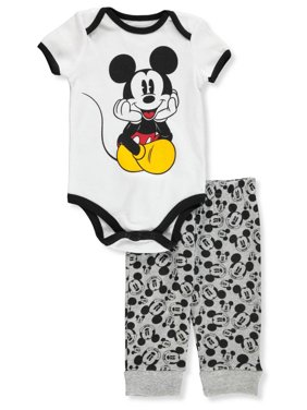 51b8243cd Product Image Disney Mickey Mouse Baby Boys' 2-Piece Pants Set Outfit