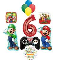 Super Mario Bro Party Supplies Birthday Balloon Bouquet Decorations