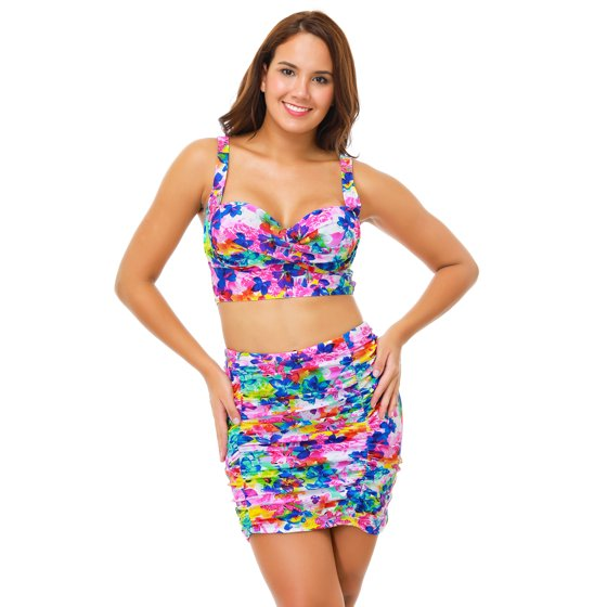 b7816cc1f4 Senfloco - Senfloco Women Plus Size Swimwear 2pcs Vintage Bikini ...