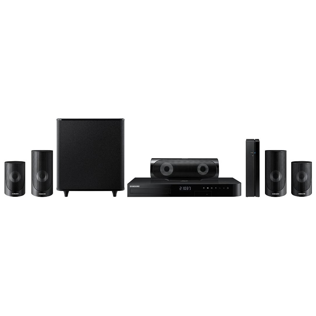 SAMSUNG 5.1 Channel 1000W Home Theater System & Blu-ray & DVD Player, Wi-Fi Streaming - HT-J5500W