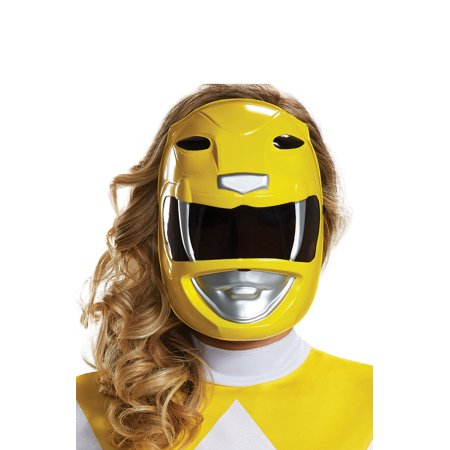 Adult's Womens Power Rangers Yellow Ranger Mask Costume Accessory (Womens Mask)